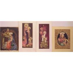 Ken Barker (20th Century) American (four), RELIGIOUS THEMES, 1930's to 1940's, four watercolors...