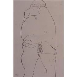 Leonard Baskin (1922-2002) American, OUR GENERAL, 1967, etching, signed in pencil, numbered edi...