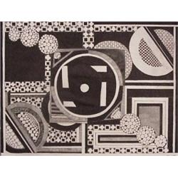 Anthony Veit Belfils (20th Century) American, DIELOSGENAL - DOSS THIS SAY ANYTHING, ink drawing...