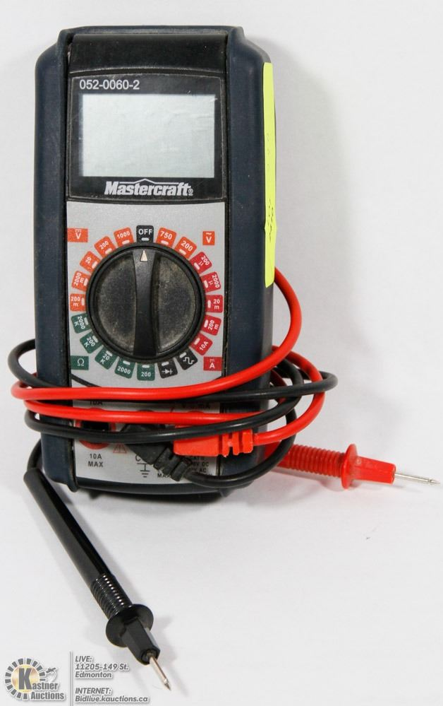 MASTERCRAFT MULTIMETER WITH LEADS