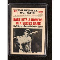 1961 Nu Cards Baseball Scoops 455 Babe Ruth New York Yankees Card