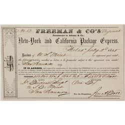 Freeman & Co. Receipt from US Mint in Philadelphia to US Mint in San Francisco