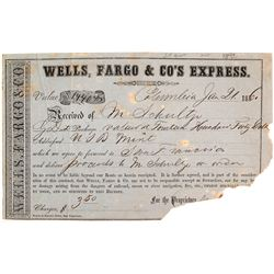 Wells Fargo Receipt for Gold Dust Sent to the San Francisco Mint, 1861