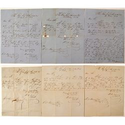 Six Letters from Bank of Charlotte to R. C. Pearson.