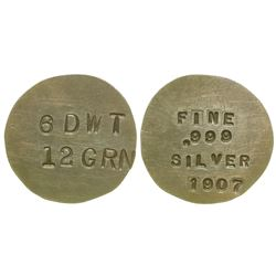 Round 1907 Silver Coin