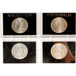 Two Nice Morgan Dollars