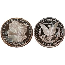 Morgan Dollar Copy Weighing One Pound of Silver