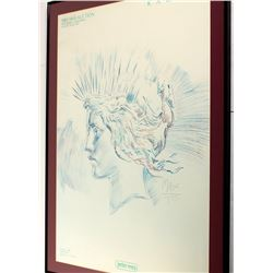 "Print Framed & Matted ""Liberty Lady"""