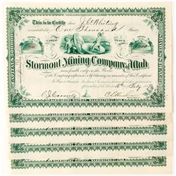 Trade Dollar Vignette Mining Stock Certificates