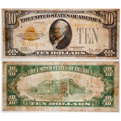 $10 Gold Certificate