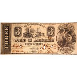 $3 Wetumpka Trading Company Note