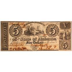 $5 Wetumpka Trading Company Note
