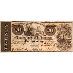 $20 Wetumpka Trading Company Note