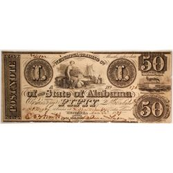 $50 Wetumpka Trading Company Note