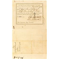 Continental Army Pay Slip for 50 Pounds