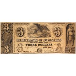 Bank of St. Mary's $2 Note Payable in Gold or Silver