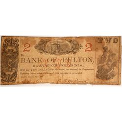 Bank of Fulton $2 Note