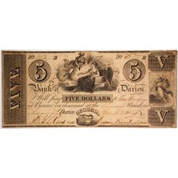 $5 Bank of Darien Note