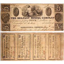 $5 Belfast Mining Company Note