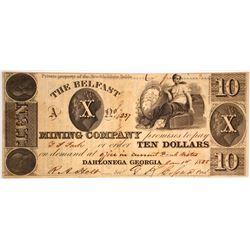 Belfast Mining Company $10 Note