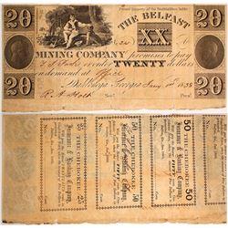 $20 Belfast Mining Company Note