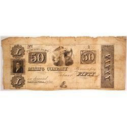 Belfast Mining Company $50 Note