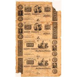 $50-100 Uncut Belfast Mining Company Sheet