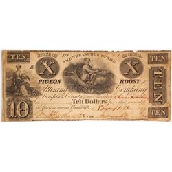 Pigeon Roost Mining Company Scrip $10