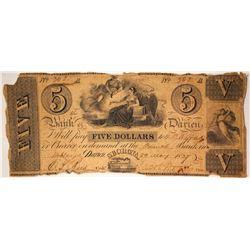 $5 Bank of Darien Note