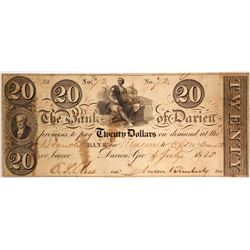 $20 Bank of Darien Note