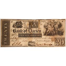 Bank of Darien $20 Note