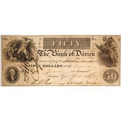 $50 Bank of Darien Note
