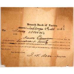 Promissory Note Branch Bank at Darien