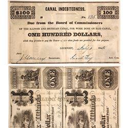 1842 Illinois & Michigan Canal $500 Scrip