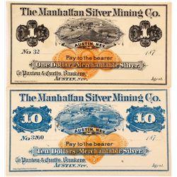 Manhattan Silver Mining Company Scrip