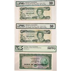 Bahamas/Mozambique Certified Currency