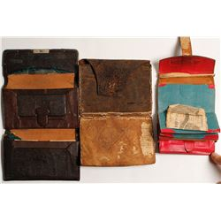 Three Old Southern Wallets