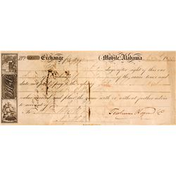 1835 Mobile Alabama First of Exchange