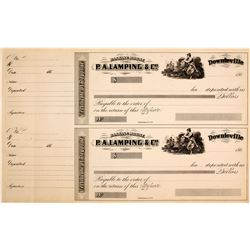P.A. Lamping & Co. Banking House Certificates of Deposit, 1860s