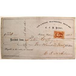 C.T.H. Palmer, Granite Banking House Receipt, 1863