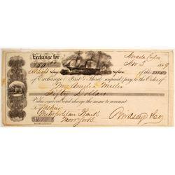 1859 Nevada City, Gold Rush Era Second of Exchange
