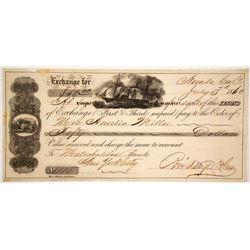 Birdseye & Co. Second of Exchange, Nevada City, CA 1860