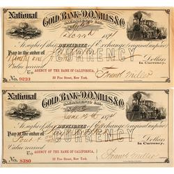 Two Gold Bank of D.O. Mills & Co. Exchanges, 1874