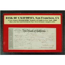Bank of California Telegraphic Transfer of Funds