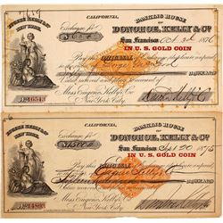 Two Donohoe, Kelly & Co. Exchanges with Different RNs, 1875 & 1876