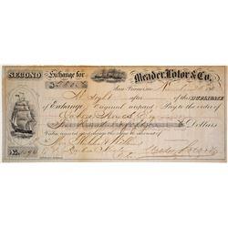 Meader, Lolor & Co. Second of Exchange, San Francisco, 1863