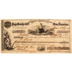 Page, Bacon & Co. Second of Exchange, San Francisco, 1853