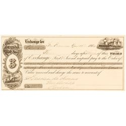 Third of Exchange, San Francisco to Berlin, 1870