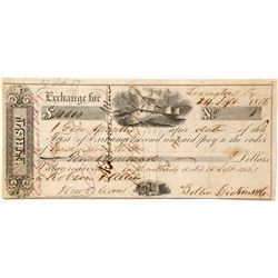 1856 First of Exchange for $10,000, Lexington, Kentucky