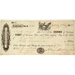 Second of Exchange, Natchez, 1838